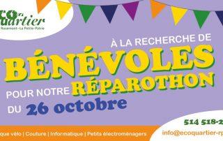 Nous cherchons des bénévoles pour notre réparothon du 26 octobre